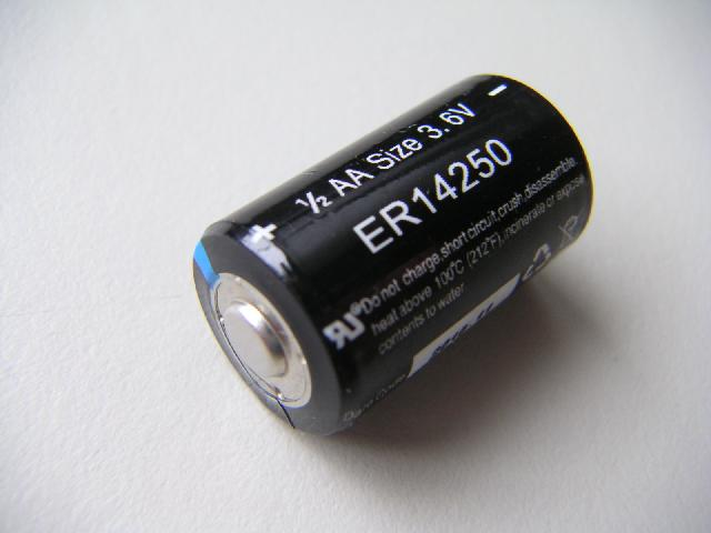 Lithium battery 1/2 AA, type ER14250